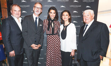 KENDALL AND THE LONGCHAMP FAMILY CELEBRATE THE OPENING OF LONGCHAMP FIFTH AVENUE, NEW YORK CITY