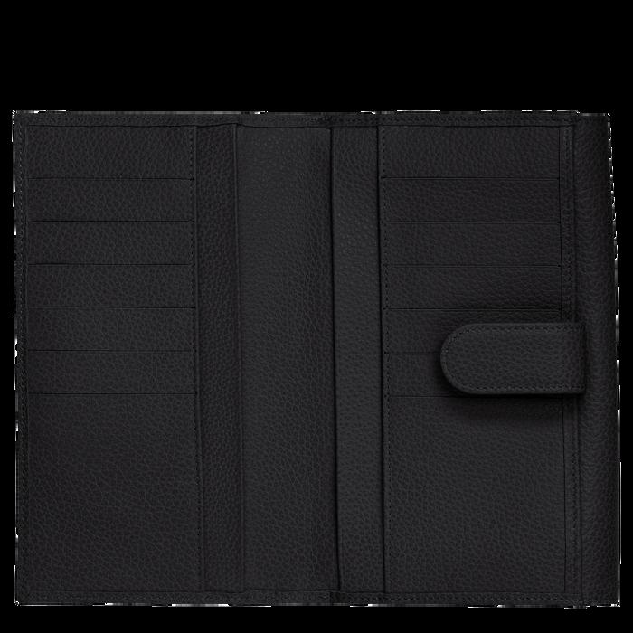 Long continental wallet Le Foulonné Black (L3524021047) | Longchamp US