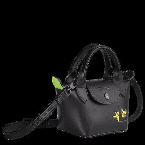 Tas met handgreep aan de bovenkant, Zwart/Ebbenhout - Weergave 2 van  3 -