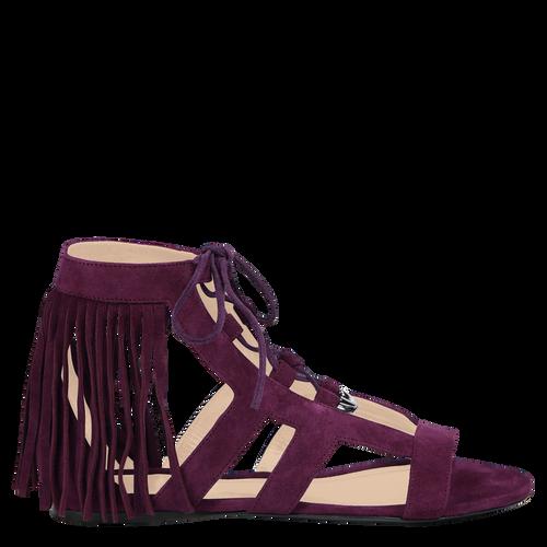 Platte sandalen, 527 Violet, hi-res