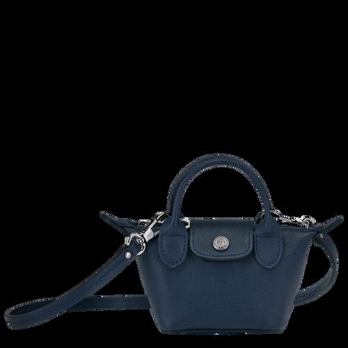 Crossbody bag XS Le Pliage Cuir Navy (10099757556) | Longchamp US