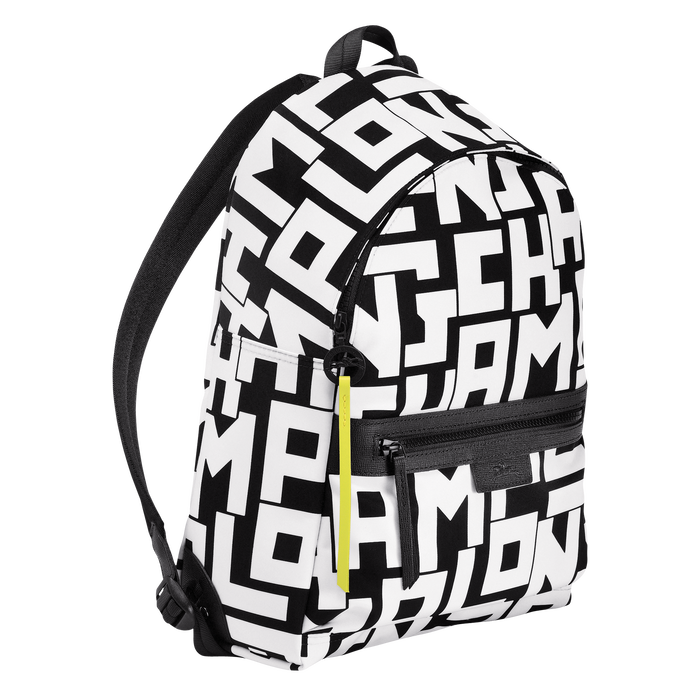 Backpack M, Black/White - View 2 of 4 - zoom in