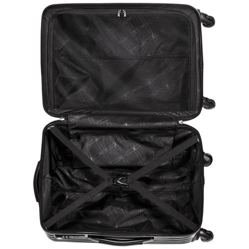 滾輪式行李箱, 黑色, hi-res - View 3 of 3
