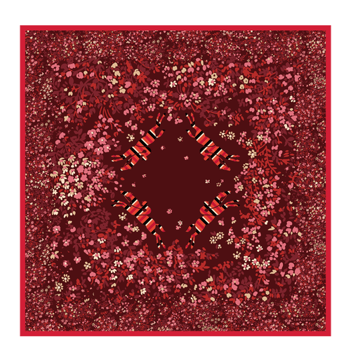 Silk scarf, 545 Red, hi-res