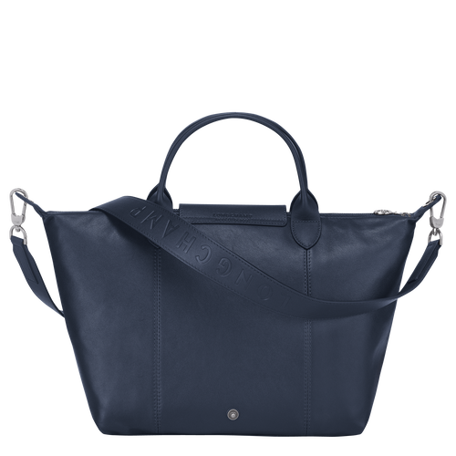 Top handle bag M, Navy - View 3 of  4 -