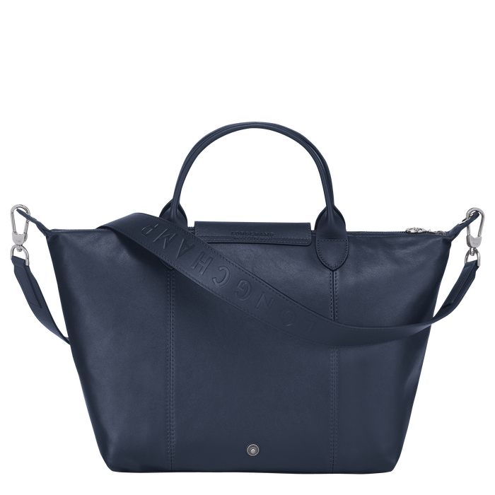 Top handle bag M, Navy - View 3 of  4 - zoom in