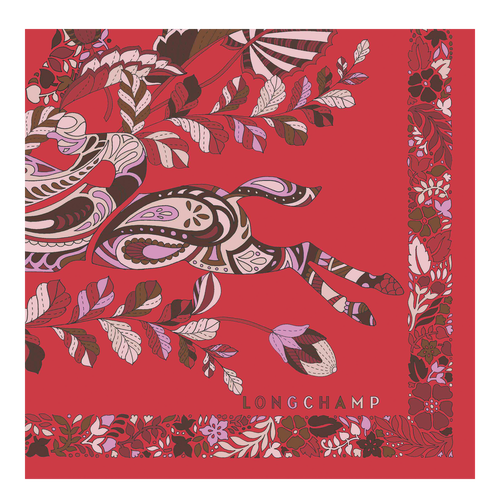 Fall-Winter 2021 Collection Silk scarf, Red Kiss