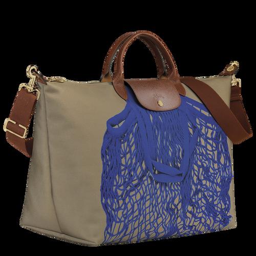 Travel bag L, Khaki/Blue - View 2 of  3 -