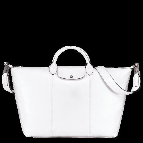 Sac de voyage Le Pliage Cuir Blanc (L1624757007) | Longchamp FR