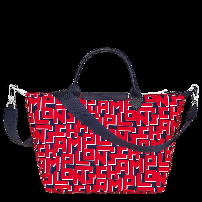 Le Pliage LGP 手提包 M, 海軍藍色/紅色
