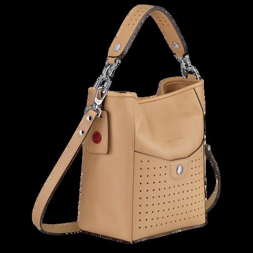 Small bucket bag, Beige, hi-res - View 3 of 3