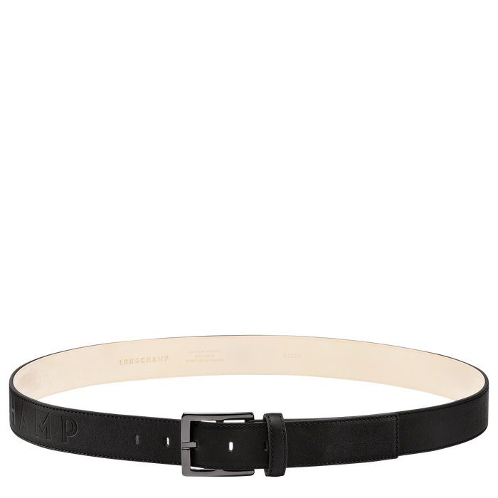 Longchamp 3D Herrengürtel, Schwarz