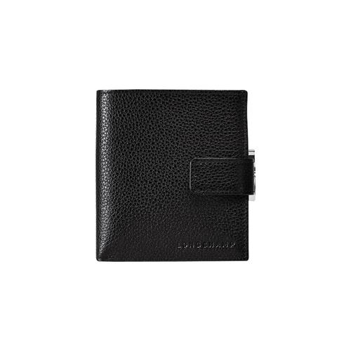 Portefeuille compact, 047 Noir, hi-res