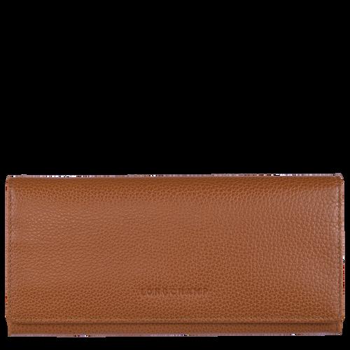 Long continental wallet Le Foulonné Caramel (L3044021F72) | Longchamp US