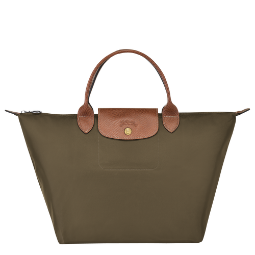 Top handle bag M, Khaki - View 1 of 4 -