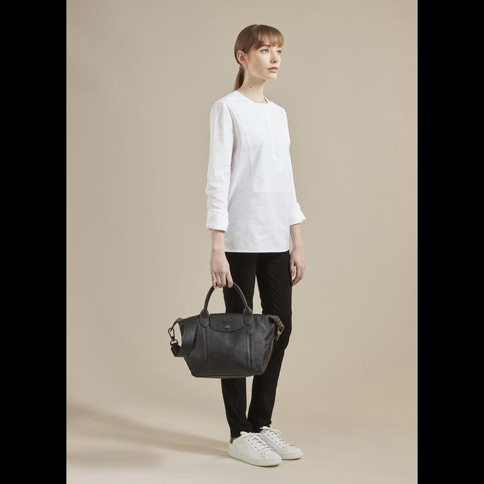 Le Pliage Cuir Top handle bag S, Turtledove