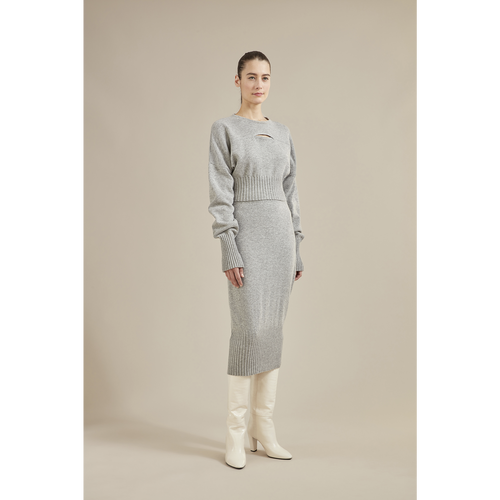 Fall-Winter 2021 Collection Skirt, Grey