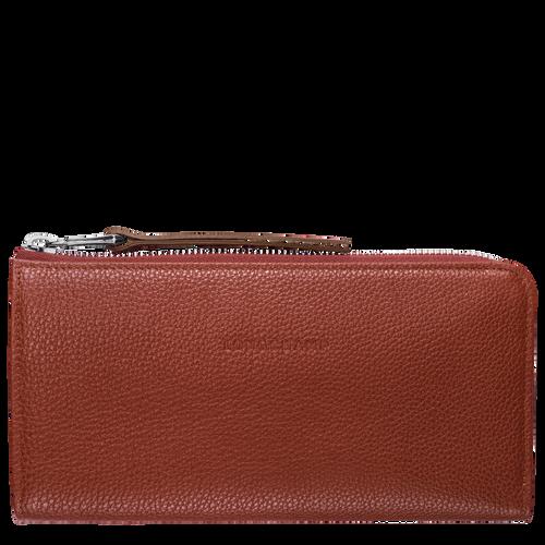 Langformat Brieftasche mit Reissverschluss, Kastanie, hi-res - View 1 of 2