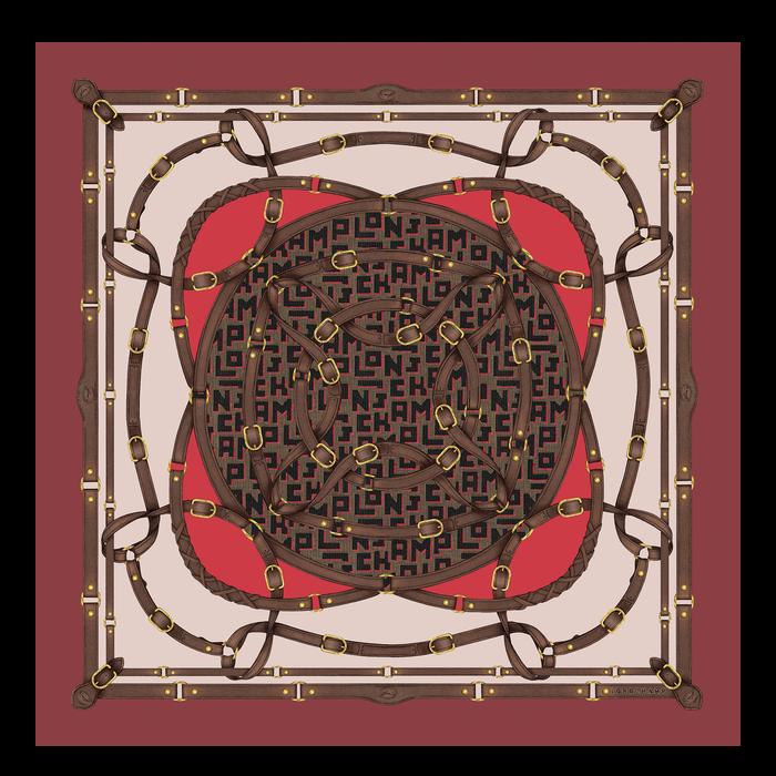 2021 秋冬系列 絲質圍巾, 紅色