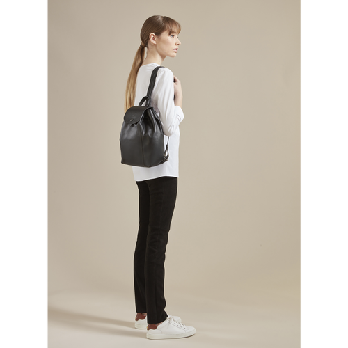 Le Pliage Cuir Backpack, Red Kiss