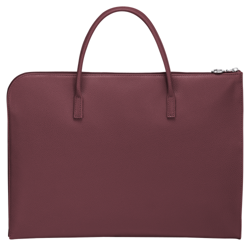 Le Foulonné Briefcase S, Mahogany