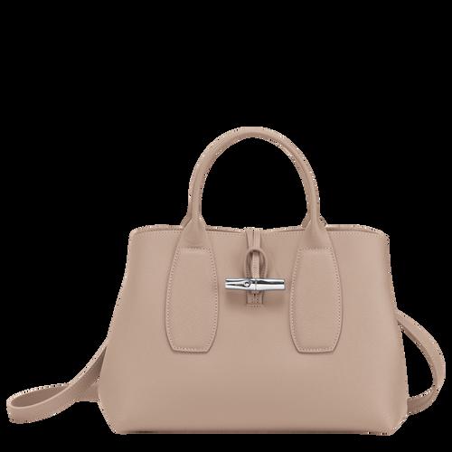 Top handle bag M, Sand, hi-res - View 1 of 5