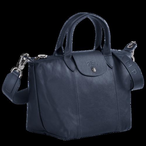 Sac porté main S Le Pliage Cuir Navy (L1512757556) | Longchamp FR