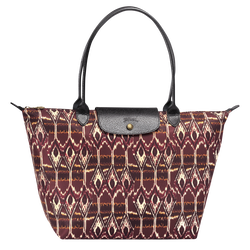 Ikat Tote bag L, 009 Burgundy, hi-res