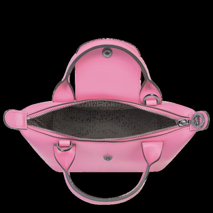 Le Pliage Cuir Top handle bag XS, Peony