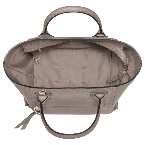 Top handle bag M, Taupe - View 4 of  4 -