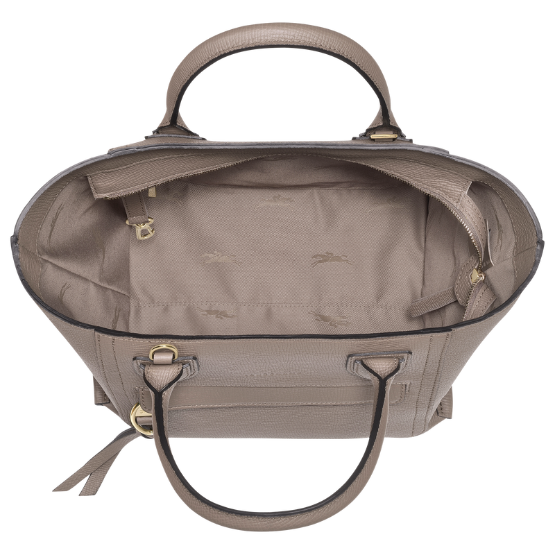 Top handle bag M, Taupe - View 4 of  4 - zoom in