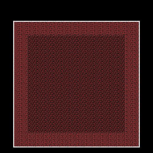 Vue 1 de Carré de soie, Noir/Brique, hi-res