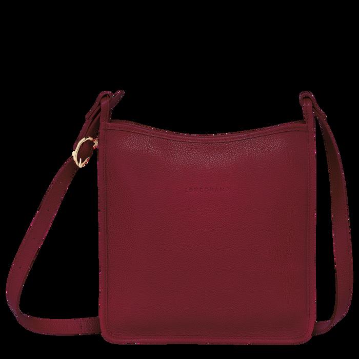 Le Foulonné 系列 拉鏈斜背包大型, 紅色