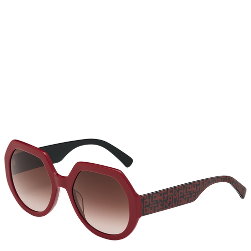 View 2 of Sunglasses, Ivory/Burgundy, hi-res