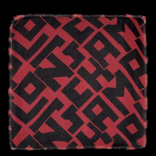 Vue 1 de Châle, Noir/Brique, hi-res