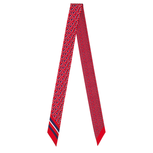 Fall-Winter 2021 Collection Silk ribbon, Navy/Red
