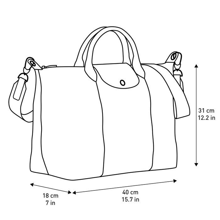 Top handle bag L, Navy - View 5 of  5 - zoom in