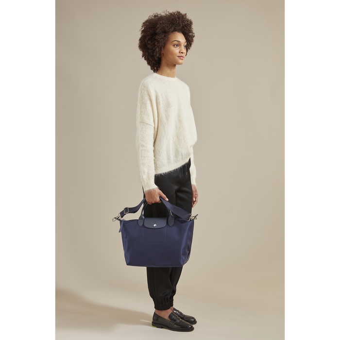 Le Pliage Néo Top handle bag M, Raspberry