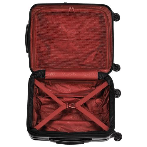Vue 3 de Valisette à roulettes, Noir/Rouge Laqué, hi-res