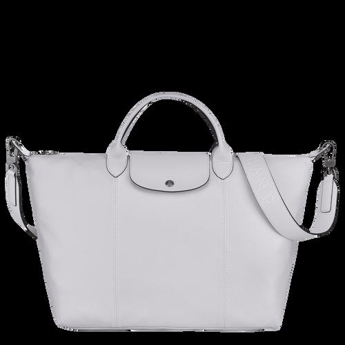Sac porté main L Le Pliage Cuir Gris (L1630757263) | Longchamp BE