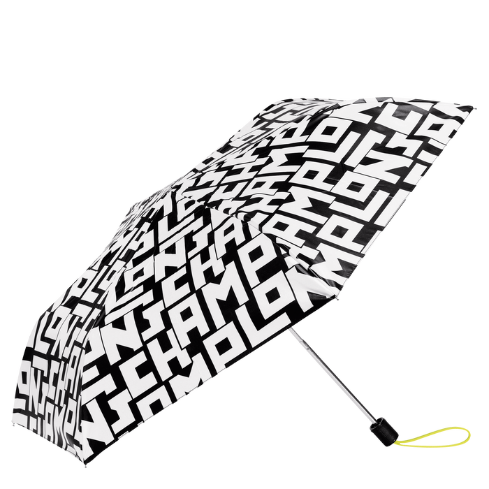 Retractable umbrella, Black/White - View 1 of  1 - zoom in