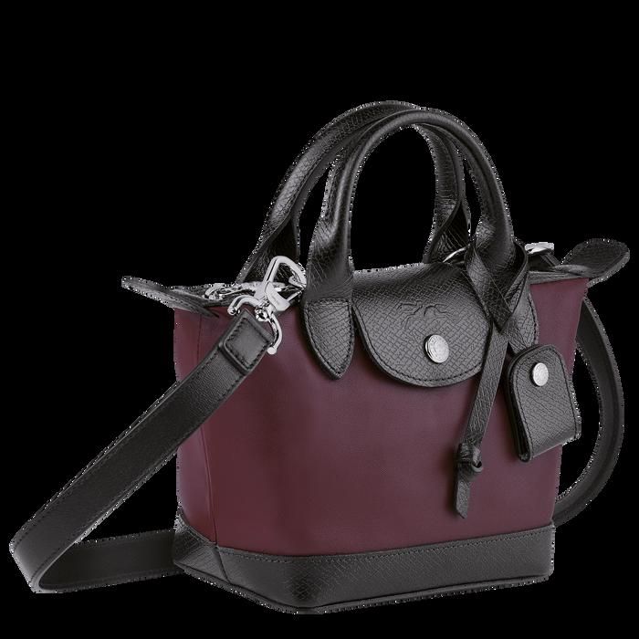 Le Pliage Cuir Top handle bag XS, Mahogany