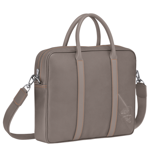 Briefcase XS, Taupe - View 2 of 3 -