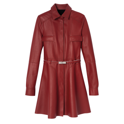 Mid-length coat, Mahogany, hi-res