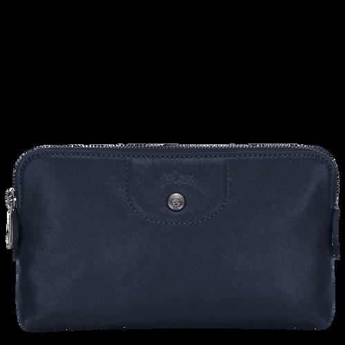 Pouch Le Pliage Cuir Navy (L4549757556) | Longchamp US