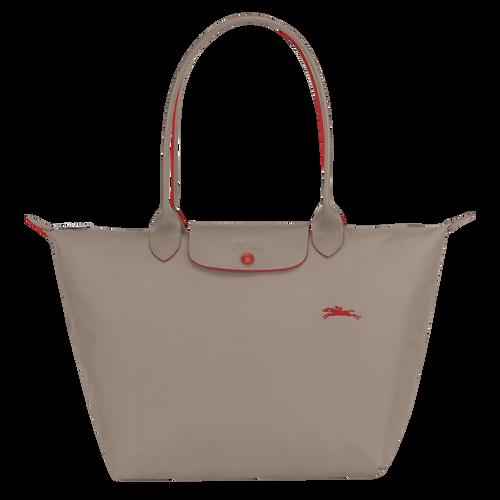 Le Pliage Club Shoulder bag L, Brown