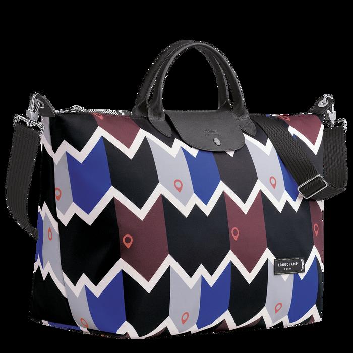 Reisetasche L, Mahagoni/Blau - Ansicht 2 von 3 - Zoom vergrößern