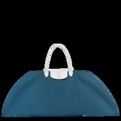 Top-handle bag L, E62 Blue/White, hi-res