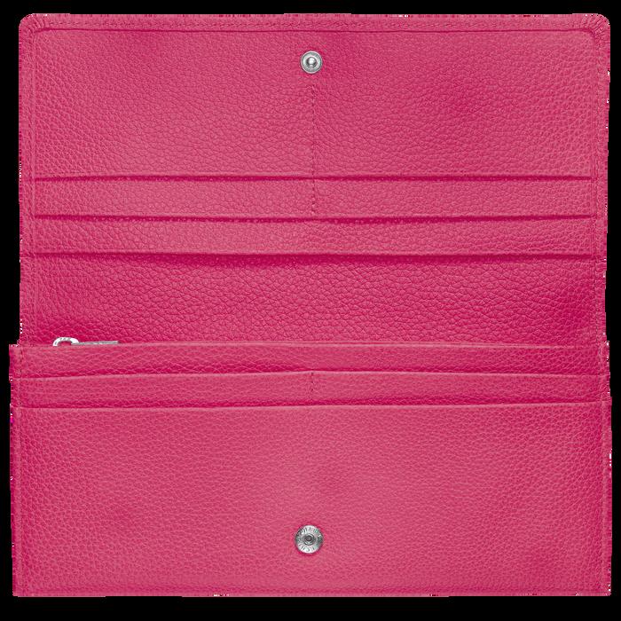 Lange Geldbörse mit Überschlag, Pink, hi-res - View 2 of 3