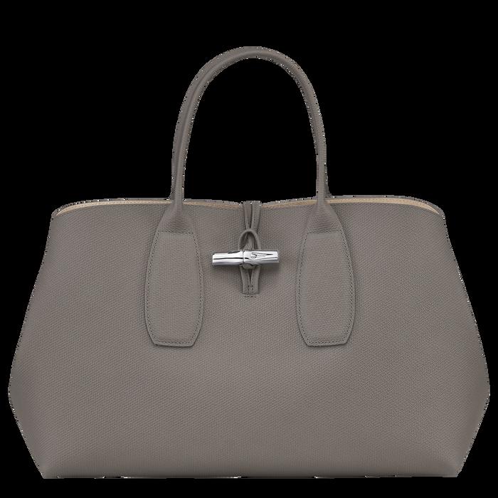 Roseau Top handle bag L, Turtledove